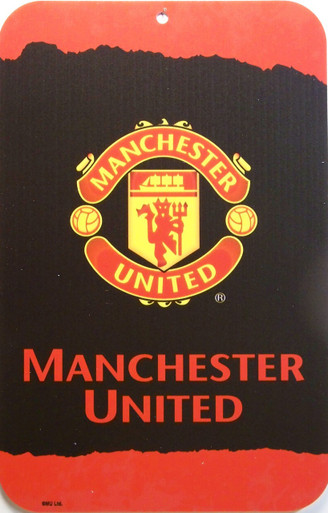 "MANCHESTER UNITED SOCCER SIGN,  HEAVY DUTY, DURABLE PLASTIC 10 3/4"" X 16 1/2""  WITH PRE-DRILLED HOLE FOR EASY MOUNTING GREAT COLORS AND GRAPHICS, A SUPER ADDITION TO ANY AVID MANCHESTER UNITED FAN'S COLLECTION"