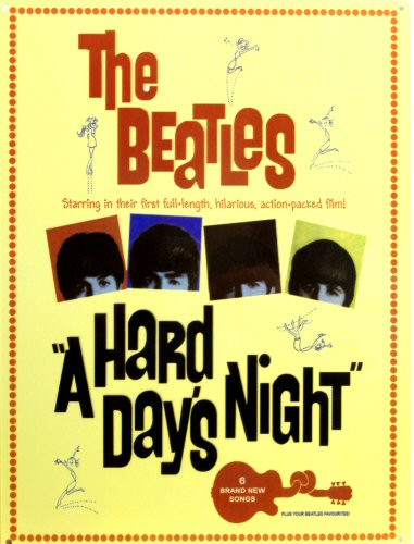 Photo of BEATLES HARD DAYS NIGHT MOVIE POSTER SIGN GREAT GRAPHICS AND COLOR
