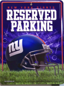 """METAL FOOTBALL SIGN,  8 1/2"""" w X 11"""" h  with hole(s) for easy mounting  A GREAT ADDITION FOR ANY NEW YORK GIANTS FOOTBALL FANS COLLECTION, EXCELLENT COLOR AND GRAPHICS"""