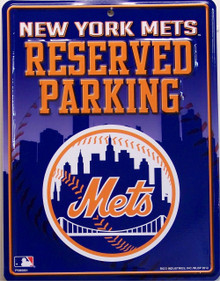 SMALL, COLORFUL NEW YORK METS FAN PARKING ONLY SIGN GREAT ADDITION FOR WHEREVER THE FAN PARKS