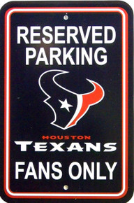 """HEAVY DUTY DURABLE PLASTIC FOOTBALL SIGN           10 3/4"""" w X 16 1/2"""" h COLORFUL, GREAT FOR THE HUSTON TEXAN FANS"""