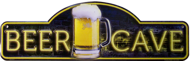 """METAL SIGN 18"""" W X 5 1/2"""" H WITH HOLES FOR EASY MOUNTING, COLORFUL, EMBOSSED METAL BEER SIGN GREAT FOR BARS, MAN CAVES ANY PLACE THE BEER LOVERS LIKE TO GATHER"""