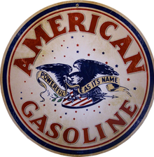 """HEAVY DUTY METAL SIGN POWER COATED FINISH 14"""" DIAMETER THE  COLORS AND DETAIL ON THIS SIGN ARE EXCEPTIONAL"""