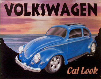 GREAAT COLOR AND COOL WEST COAST SUNSET WITH THIS  NOSTALGIC VW.  THIS SIGN IS OUT OF PRINT WITH ONLY ONE LEFT.