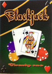 Photo of BLACK JACK CARD GAME SIGN RICH COLOR AND DETAILS IN THIS SIGN