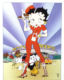 GREAT COLORS AND GRAPHICS MAKE THIS BETTY BOOP SIGN A NICE ADDITION TO ANY  FAN'S COLLECTION