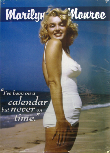 """THIS  COLORFUL VINTGE MARILYN MONROE SIGN MEASURES APOX. 12"""" W X 16 1/2"""" H WITH HOLES IN EACH CORNER FOR EASY MOUNTING.  WE UNDERSTAND IT WAS TAKEN AT JONES BEACH, NY"""