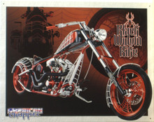 BLACK WIDOW BIKE MOTORCYCLE SIGN GREAT COLORS AND ATTENTION TO DETAIL