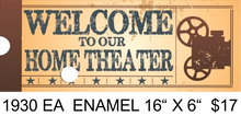 """Sign Size: 16"""" w X 6"""" h With Pre-drilled Hole(s) for easy hanging Material: ENAMEL FINISH ON HEAVY METAL GREAT GRAPHICS AND VINTAGE COLORS MAKE THIS A GREAT ADDITION TO ANY MOVIE OR THEATRE AREA IN YOUR HOME OR ELSEWHERE."""