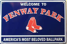 BOSTON RED SOX BASEBALL FENWAY PARK SIGN, AMERICA'S MOST BELOVED BALL PARK