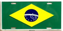 Photo of BRAZIL FLAG LICENSE PLATE