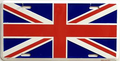 Photo of BRITISH UNION JACK LICENSE PLATE