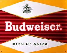 "Photo of BUDWEISER ""BULLSEYE"" BEER SIGN, A SIGN FROM THE PAST GOOD COLOR AND DETAIL"