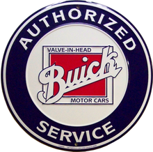 Photo of BUICK AUTHORIZED SERVICE SIGN HAS BOLD COLORS AND CRISP DETAIL