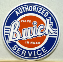 Photo of BUICK AUTHORIZED SERVICE SIGN IS THE NEWER OF THE TWO ROUND SERVICE SIGNS