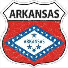 "STATE FLAG HIGHWAY SHIELD, CRACKLE PAINT,  FOR A WEATHERED LOOK, ON FLAT ALUMINUM METAL SIGN  12"" X 12"" COLLECT EACH STATE YOU LIKE OR HAVE VISITED!   If you are ordering from outside the U.S. consider  asking your friends to order signs also, it is less expensive for extra signs than for the first sign, split the shipping cost, it makes ordering more affordable. Actually, the same is true for Domestic shipping as well."