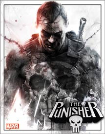 """The Punisher Tin Sign measures 12  1/2""""  x  16"""" with holes in each corner for easy mounting."""