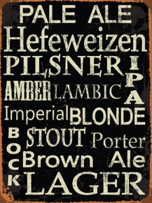 """Heavy Enamel Metal sign, rustic colors and great content. This sign measures 12"""" x 16"""" and has holes in each corner for easy mounting."""