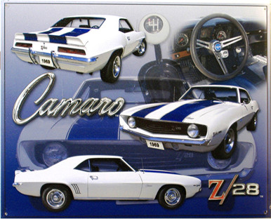 CAMARO Z-28 SIGN GREAT DETAIL OF THE FRONT, BACK, SIDE AND INSIDE MAKE THIS A GREAT ALL AROUND SIGN FOR THE COLLECTOR