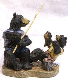 "DAD & BEAR CUB FISHING 5"" X 2 3/4"" X 4 1/2"""