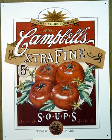 Photo of CAMPBELLS SOUP XTRA FINE TOMATO FOR ONLY 5 CENTS A CAN.. PLANT IN CAMDEN, N.J.