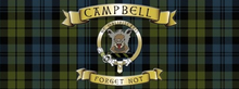 Photo of CAMPBELL TARTAN SCOTISH, ENAMEL SIGN FOR THE CAMPELL CLAN