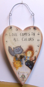 """LOVE COMES IN ALL COLORS MEASURES 6 3/8"""" X 1/4"""" X 12 7/8"""" INCLUDING WIRE"""
