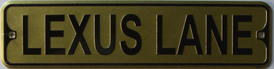 "LEXUS LANE SMALL 12"" EMBOSSED METAL STREET SIGN MEASURES 12"" X 3"""