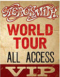 """AEROSMITH WORLD TOUR VINTAGE TIN SIGN MEASURES 12"""" X 15""""  WITH HOLES IN EACH CORNER FOR EASY MOUNTING"""