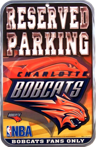 Photo of CHARLOTTE BOBCATS BASKETBALL PARKING SIGN, FOR THE AVID BOBCATS FAN'S COLLECTION