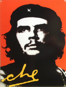 Photo of CHE GUEVARA PORCELAIN SIGN RICH COLORS AND DETAIL