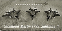 F-35 LIGHTNING VARIATIONS vintage heavy metal (Sublimation Process) Sign  S/O
