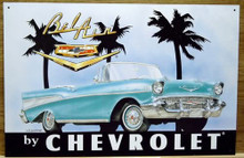Photo of CHEVY 57 BEL AIR SIGN, CONVERTIBLE GREAT GRAPHICS AND COLOR