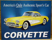 Photo of CHEVY 58 CORVETTE, AMERICA'S ONLY AUTHENIC SPORT'S CAR, RICH COLOR AND GRAPHICS