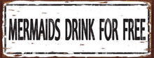 """HEAVY METAL 24 GAUGE VINTAGE SIGN WITH HIGH QUALITY ENAMEL FINISH MEASURES 16"""" X 6"""" AND HAS HOLES IN EACH CORNER FOR EASY MOUNTING   SPECIAL ORDER SIGN, NORMALLY ALLOW 2-4 WEEKS FOR DELIVERY."""