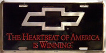 Photo of CHEVY HEARTBEAT LICENSE PLATE