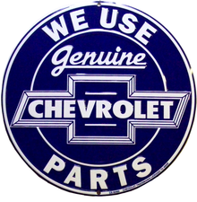 Photo of CHEVY SERVICE ROUND WITH THE CHEVY BLUE AND WHITE GRAPICS!