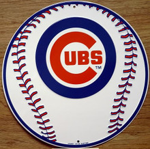 Photo of CHICAGO CUBS BASEBALL, ROUND BASEBALL GRAPHICS SIGN