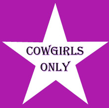 COWGIRLS ONLY STAR DESIGN FULLY CUSTOMIAZBLE ENAMEL SIGN  S/O