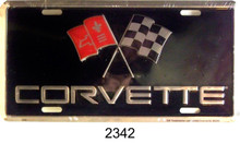 """METAL LICENSE PLATE MEASURES 12"""" X 6"""" WITH SLOTS FOR EASY MOUNTING."""