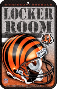 Photo of CINCINNATI BENGALS FOOTBALL OLD STYLE RESERVED PARKING SIGN. THIS SIGN IS OUT OF PRODUCTION AND WE ONLY HAVE