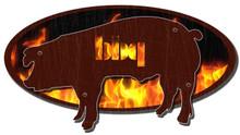 BBQ PIG 3-D PLASMA CUT (Sublimation Process) Vintage metal Sign S/O