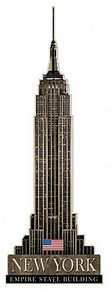 EMPIRE STATE BUILDING SHAPED (Sublimation Process) Vintage metal Sign S/O
