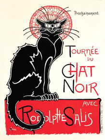 CHAT NOIR  CAT  RETRO ENAMLE FINISH ON HEAVY 24 GAGUE METAL SIGN  S/O