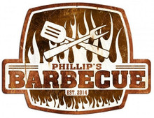PERSONALIZED BARBECUE SHAPED  (Sublimation Process) Vintage metal Sign S/O