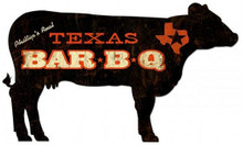 PERSONALIZED BBQ (BARBECUE) COW SHAPED  (Sublimation Process) Vintage metal Sign S/O