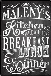 """PERSONALIZED """"KITCHEN MADE WITH LOVE  (Sublimation Process) Vintage metal Sign S/O"""