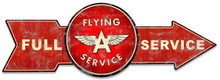 FULL SERVICE FLYING A ARROW Sublimation Process Vintage WEATHERED LOOK Metal Sign S/O