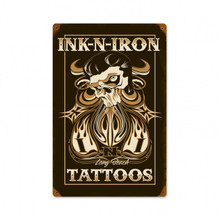 INK N' IRON TATTOOS Sublimation Process Sign  S/O