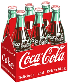 Photo of COKE SIX PACK DIE CUT & EMBOSSED, THIS COLORFUL AND FINELY DETAILED COCA-COLA SIX PACK IS EXCEPTIONAL IN DETAIL AND COLOR